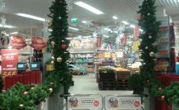 Kaubandusketi jõulukaunistuste paigaldus üle Eesti